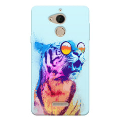 Tiger wearing goggles design Coolpad note 5 printed back cover
