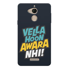 Vella hoon awara nhi! Quote design Coolpad note 5 printed back cover