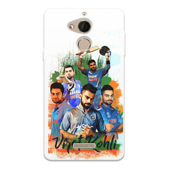 Virati Kohli collage design Coolpad note 5 printed back cover