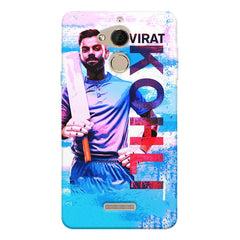 Virat Kohli with a bat portrait Design  Coolpad note 5 hard plastic printed back cover