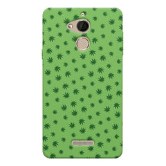 Tiny green leaves spread all over the cover design Coolpad note 5 hard plastic printed back cover