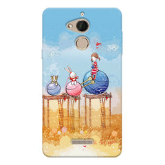 Woollen ball ride sketch design Coolpad note 5 printed back cover