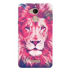 Zoomed pixel look of Lion design Coolpad note 5 hard plastic printed back cover