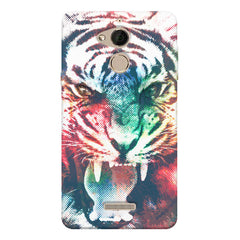 Tiger with a ferocious look Coolpad note 5 hard plastic printed back cover