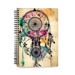 Colourful Dream Catcher design notebook