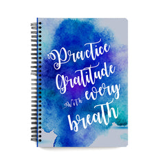 Express gratitude always design notebook