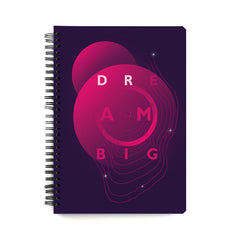 Dream big - motivational design notebook