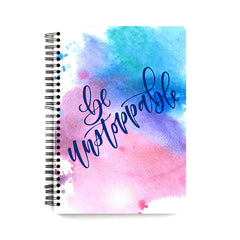 Motivational quotes design  notebook