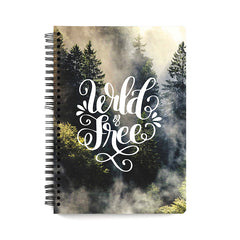 Wild and free Wanderlust  design notebook
