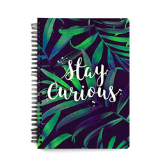 Always stay curious design notebook
