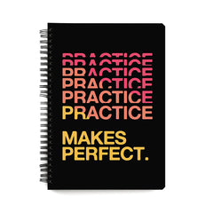 Practise makes perfect design  notebook