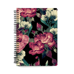 Abstract colourful flower design  notebook