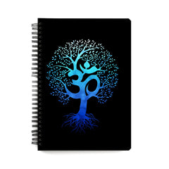 Om tree design wiro notebook - A5 Size