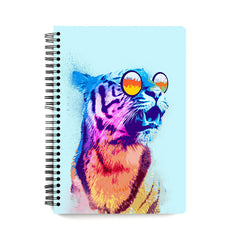 Tiger wearing goggles design wiro notebook - A5 Size