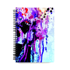 Skull colours splashed design wiro notebook - A5 Size