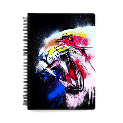 Colourful Tiger sketch design wiro notebook - A5 Size