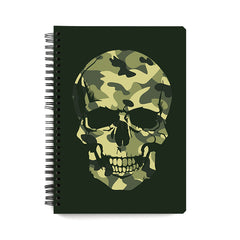 Camouflage skull design wiro notebook - A5 Size