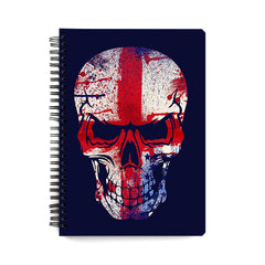 Skull with red cross design wiro notebook - A5 Size