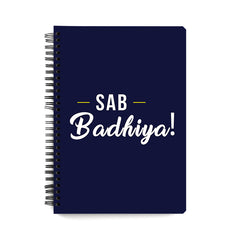 DD: Sab Badhiya design, Apple Iphone 7 plus printed back cover wiro notebook - A5 Size