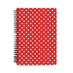 Cute hearts all over the cover design   wiro notebook - A5 Size