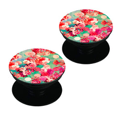 Floral  design,   Set of 2 Pop holders for your phone