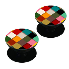 Graphic Design diamonds    Set of 2 Pop holders for your phone
