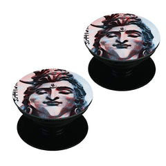 Shiva face    Set of 2 Pop holders for your phone