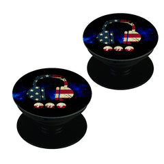 America tunes Blue sprayed   Set of 2 Pop holders for your phone