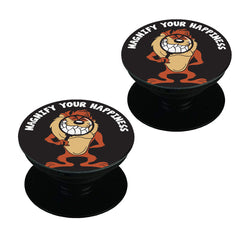 Magnify Your Happiness funny design  Set of 2 Pop holders for your phone