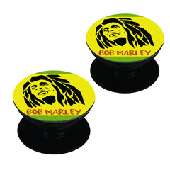 Black bob Marley   Set of 2 Pop holders for your phone
