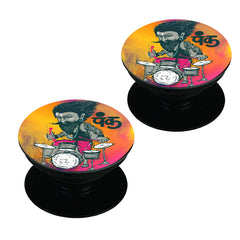 Punk baba drumroll  design,   Set of 2 Pop holders for your phone