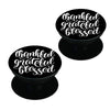 Be thankful - motivating deign Set of 2 Pop holders for your phone