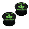 Vegan weed design  Set of 2 Pop holders for your phone