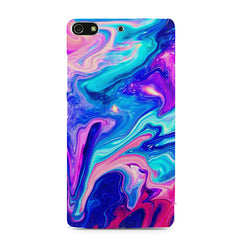 Colours spill design    Gionee S7 hard plastic printed back cover