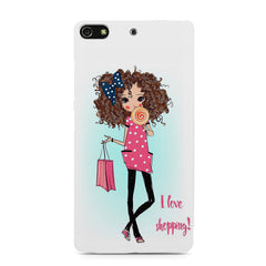 I love Shopping Girly design Gionee S7 hard plastic printed back cover