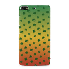 Multicolour leaf overall design Gionee S7 hard plastic printed back cover