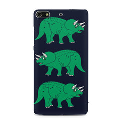 Stegosaurus cartoon design Gionee S7 hard plastic printed back cover