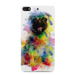 Colours splashed pug    Gionee S7 hard plastic printed back cover