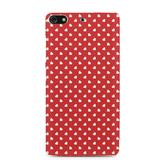 Cute hearts all over the cover design    Gionee S7 hard plastic printed back cover