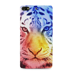 Colourful Tiger Design Gionee S7 hard plastic printed back cover
