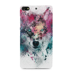 Splashed colours Wolf Design Gionee S7 hard plastic printed back cover
