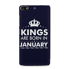 Kings are born in January design    Gionee S7 hard plastic printed back cover