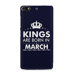Kings are born in March design    Gionee S7 hard plastic printed back cover