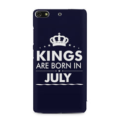 Kings are born in July design    Gionee S7 hard plastic printed back cover