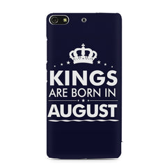 Kings are born in August design    Gionee S7 hard plastic printed back cover