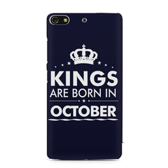 Kings are born in October design    Gionee S7 hard plastic printed back cover