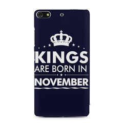 Kings are born in November design    Gionee S7 hard plastic printed back cover