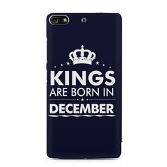 Kings are born in December design    Gionee S7 hard plastic printed back cover