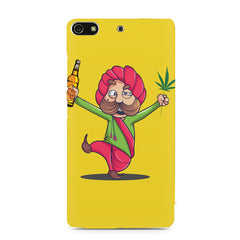 Sardar dancing with Beer and Marijuana  Gionee S7 hard plastic printed back cover