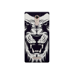 Black And White Lion Gionee S6s printed back cover